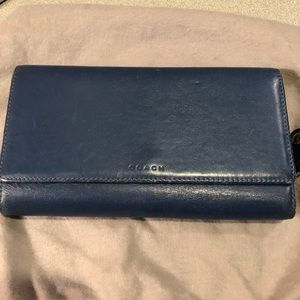 Blue Leather Coach Wallet